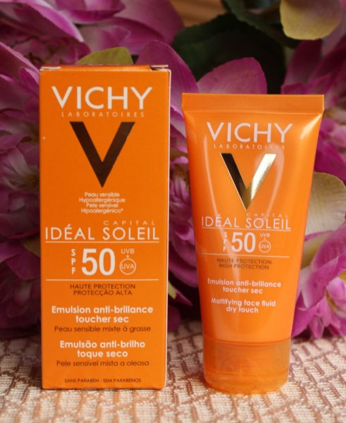 Mattifying Face Fluid Dry Touch Ideal Soleil SPF 50+ от Vichy