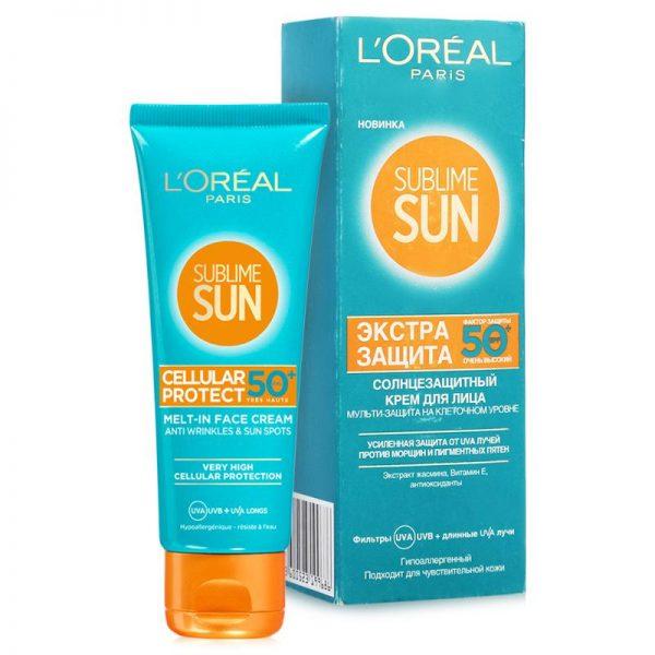 Sublime Sun SPF 50 Экстра-защита солнцезащитный крем для лица от L'Oréal Paris