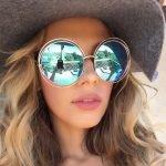 Крупные круглые очки