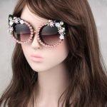 Очки с цветочным принтом