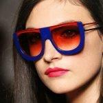 Очки с цветной оправой и цветными стёклами