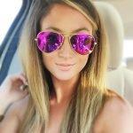 Авиаторы с фиолетовыми стёклами