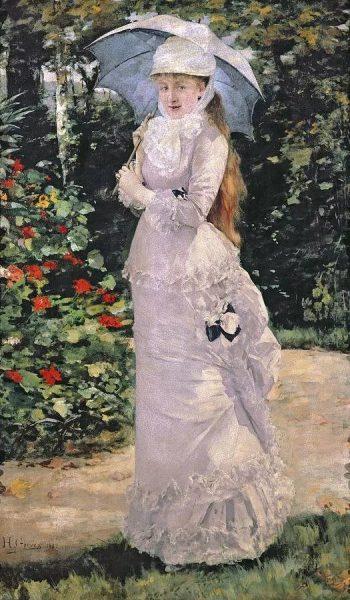 Картина «Девушка с зонтиком»