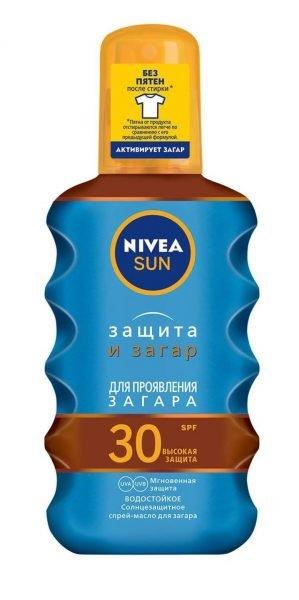 Nivea Sun солнцезащитное масло-спрей для загара «Защита и загар» SPF 30