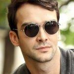 Круглые очки с коричневыми стёклами
