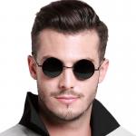 Круглые очки с чёрными стёклами