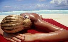 Загар на пляже