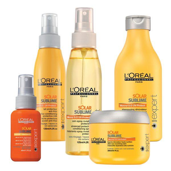 Серия средств для защиты волос от солнца