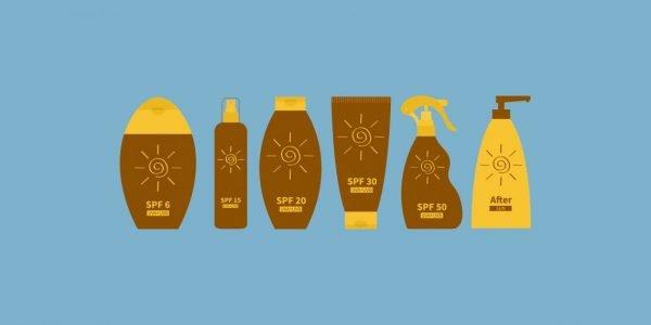 Различные солнцезащитные средства