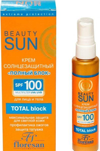 Солнцезащитный крем Beauty Sun «полный блок»
