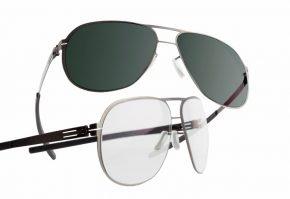 Обычные и затемнённые очки