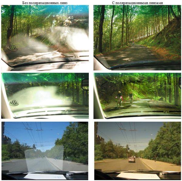 Изменение изображения с поляризованными очками