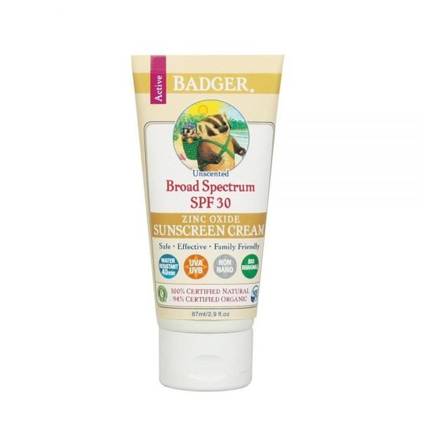 Badger Company, Zinc Oxide Sunscreen Cream, SPF 30