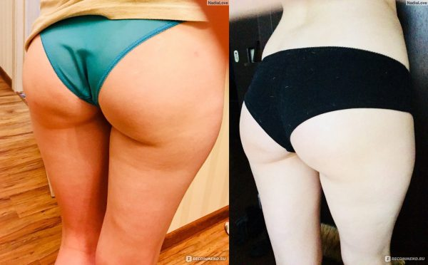 До и после шоколадного обёртывания