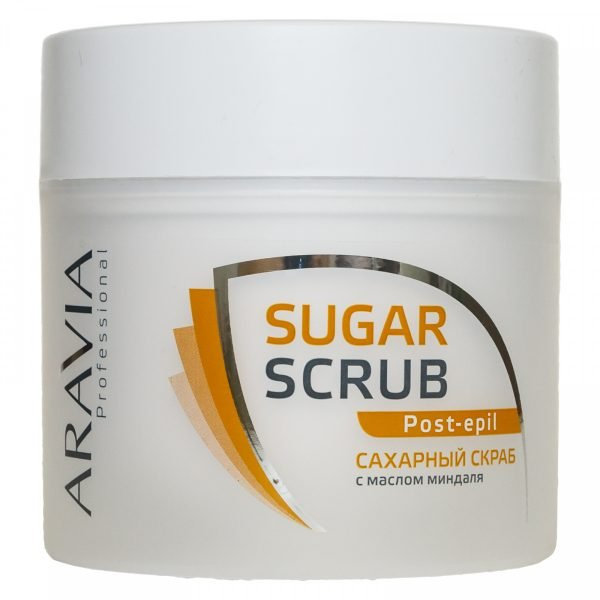 Aravia Professional, «Сахарный скраб для тела с маслом миндаля»