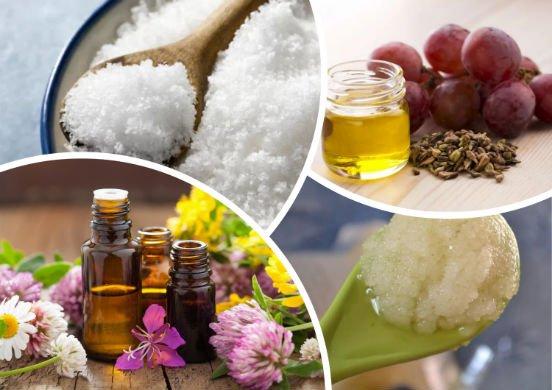 Солевой скраб с эфирным маслом