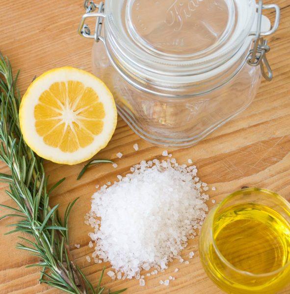 Составляющие лимонно-солевого скраба