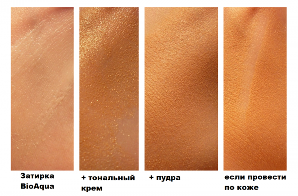 Фотоотчёт тестирования затирки для пор BioAqua BB pore silky balm