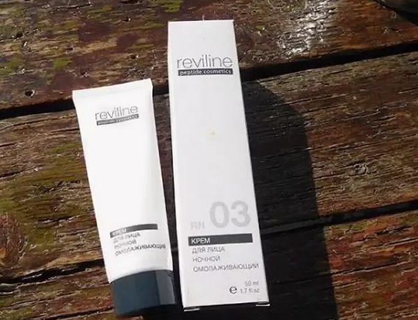 Крем для лица ночной омолаживающий Reviline RN 03 peptide cosmetics