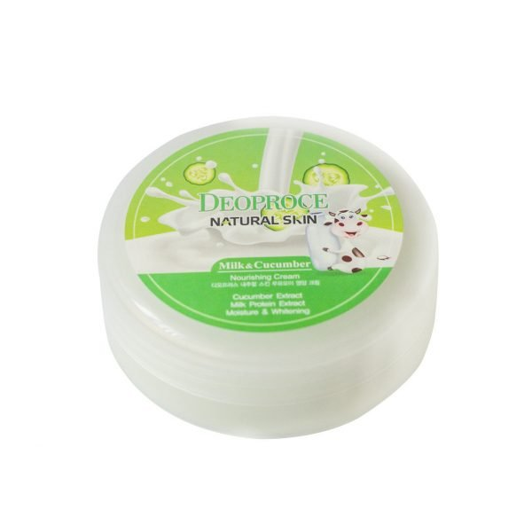 Deoproce Natural skin nourishing cream milk cucumber