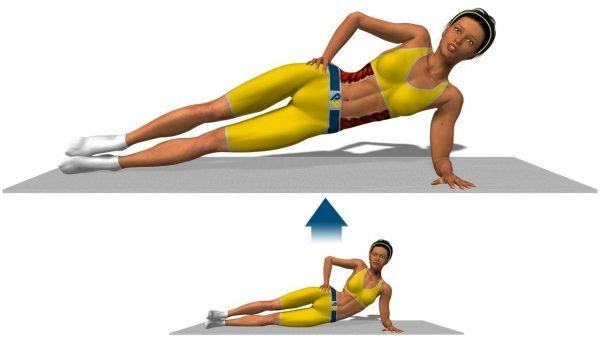 Подъём тела в боковой планке
