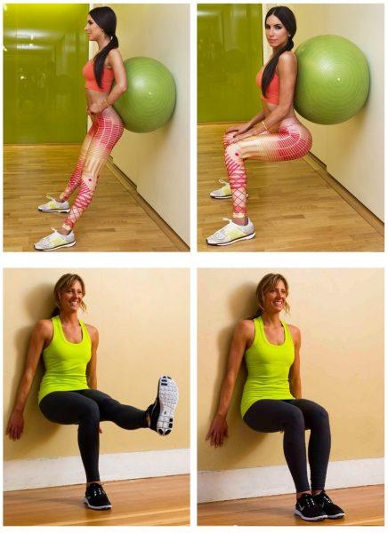Варианты упражнения «стульчик»