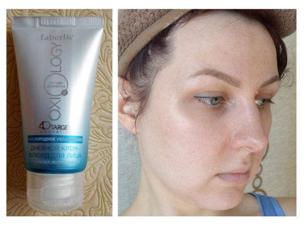 Эффект от использования крема-флюида для лица Faberlic Oxiology «Кислородное увлажнение»