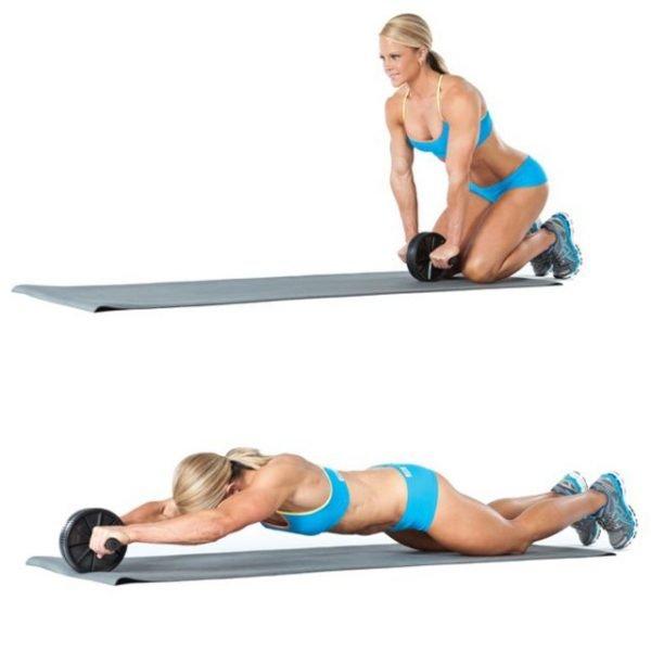 Упражнение с роликом