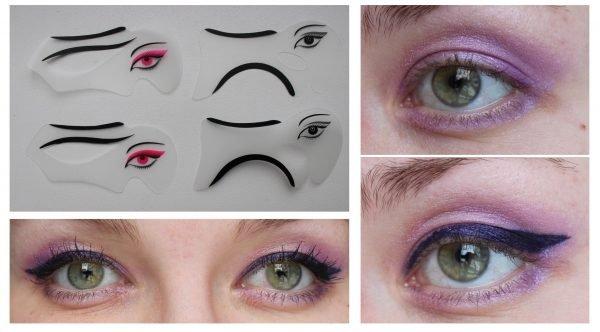 Использование трафаретов для макияжа глаз Avon