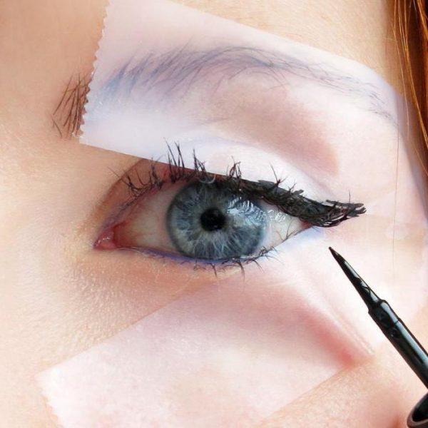 Трафарет для глаз из скотча