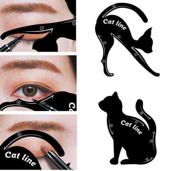 Использование трафарета «кошка»
