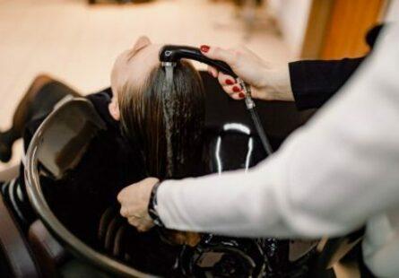 Мытьё головы перед глазированием