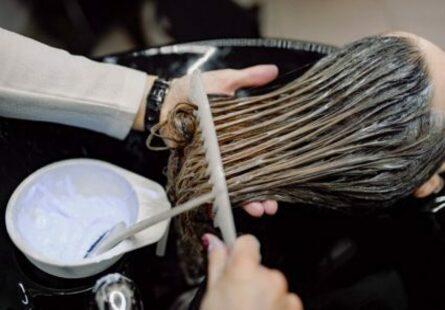 Нанесение глазури на волосы