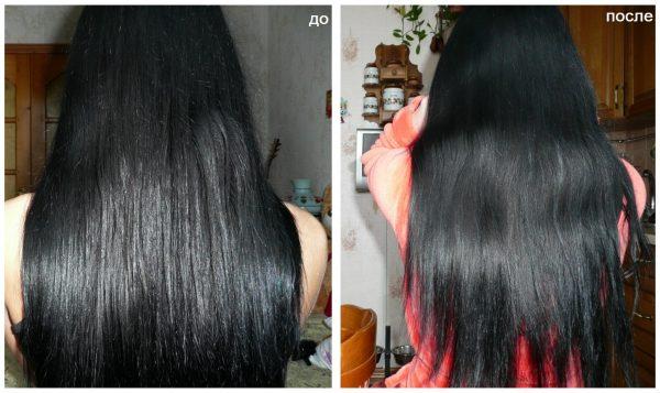 Испорченные полировкой волосы