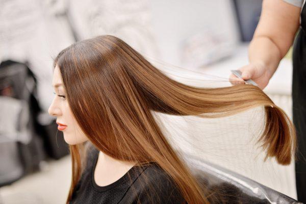 Волосы перед полировкой