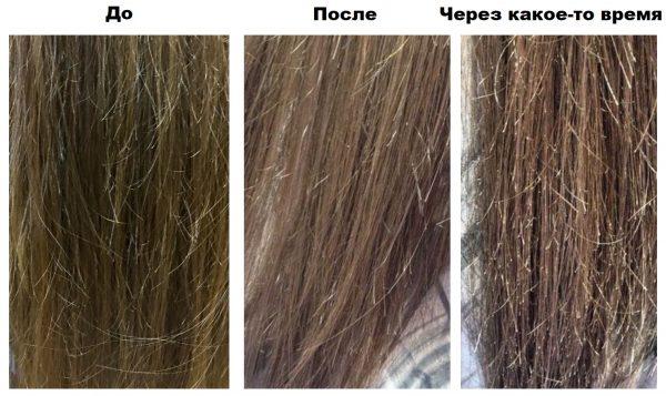 Результат некачественной шлифовки волос