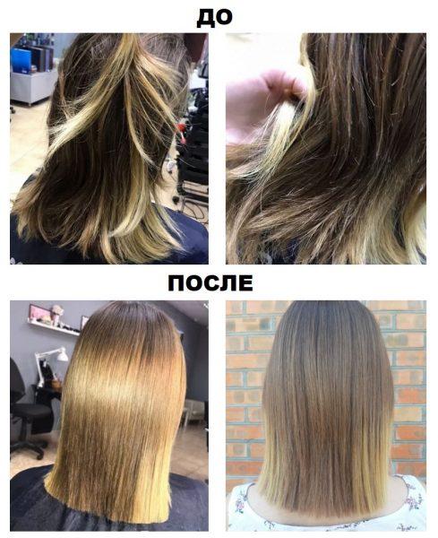 Эффективность полировки волос