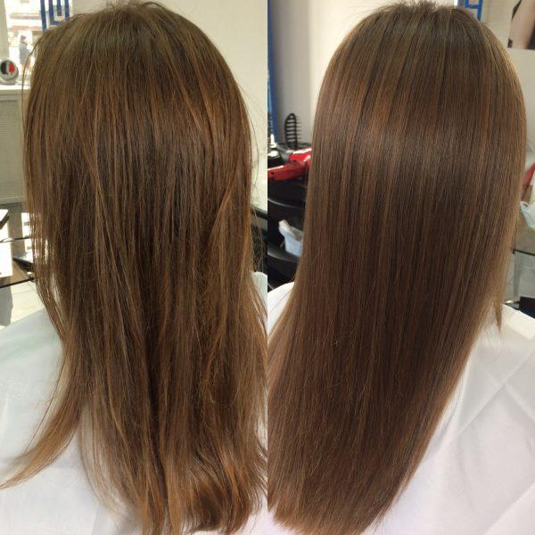 До и после ботокса для волос