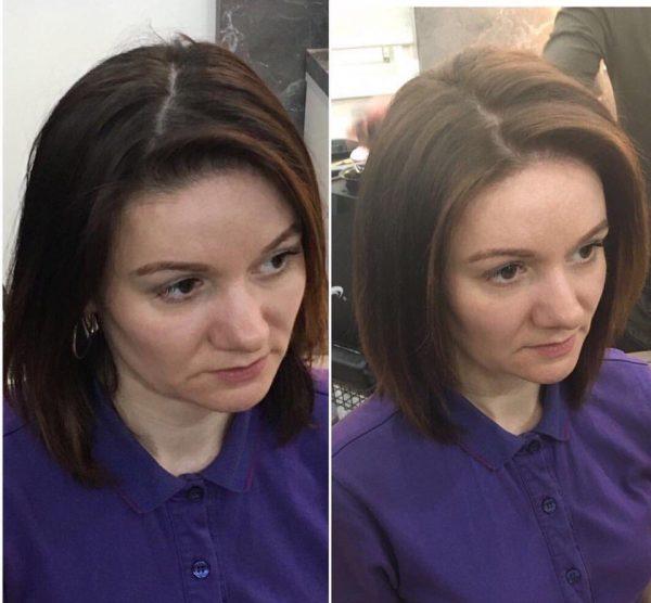Флисинг на волосы средней длины