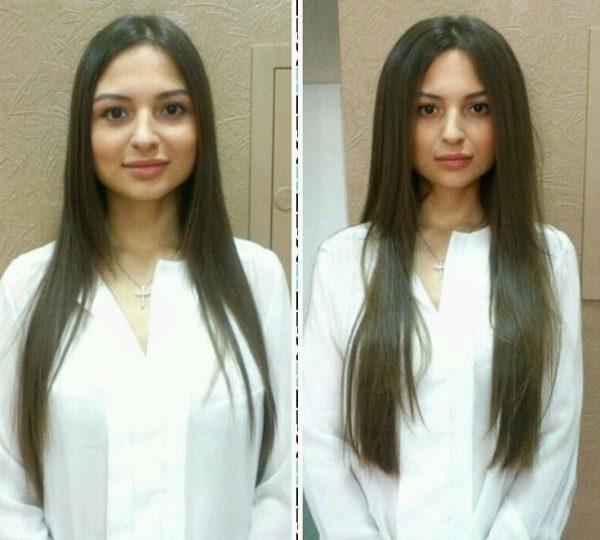 Флисинг на длинных волосах