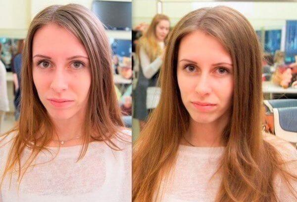 До и после флисинга