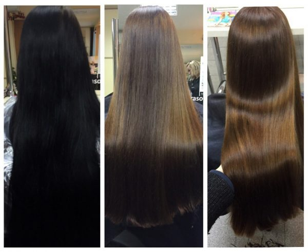 Декапирование волос — выход из чёрного цвета