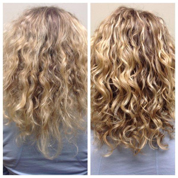 Кудрявые волосы после ламинирования